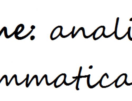 Come analisi grammaticale